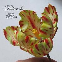 Gumpaste parrot tulip