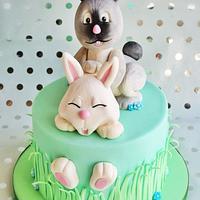 happy rabbit cake