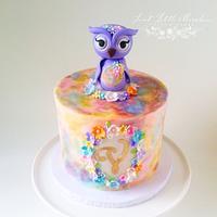 Watercolor 1st Birthday Cake