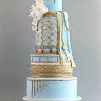 Elegant Indian Fashion Cake Collab