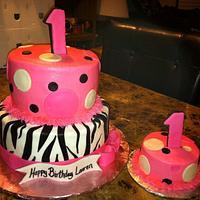 Zebra Polka Dot Cake