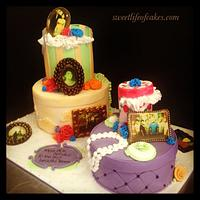 Vintage 80th Birthday cake.