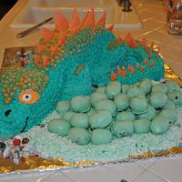 Momma Dino and Eggs