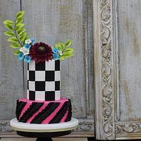 Dahlia Flower cake