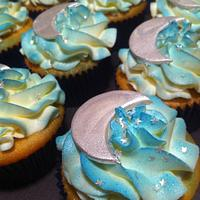 Starry Night Cupcakes