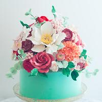 Floral Mint Cake