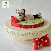 Minnie Mouse cake toppe