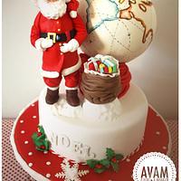 christmas vintage inspiration  cake