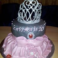 Princess cake with self made crown