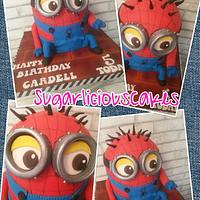 SPIDERMAN MINION CAKE