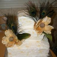 Peacock & Magnolia wedding