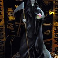 Grim Reaper Halloween Cake