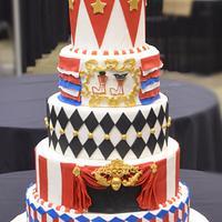 Circus themed wedding cake
