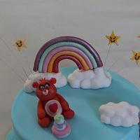 Care Bears :) hidden rainbow cake :P by Sue