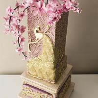 #5 Wedding Cake inspired by Enchanted Garden