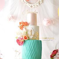Birthday Cake for Alessandra by Maria Cazarez Cakes and Sugar Art