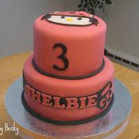 Hello Kitty Birthday Cake by Becky Pendergraft