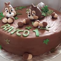 Chip and Dale cake.