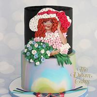 Flower Girl - Edible Quilling Art.