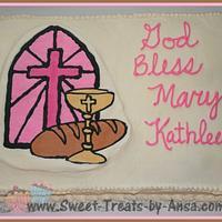 Communion Cake by Ansa