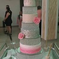 Cristal wedding cake