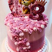 """Skye"" Paw Patrol birthday cake"