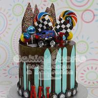 Monster Truck drip cake for Ali's 4th