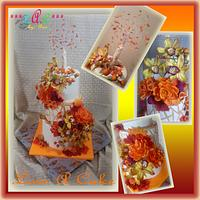 Fall-themed Wedding Cake