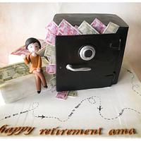 Retirement Cake for a banker