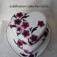 Japanese blossom wedding cake  by Celebration Cakes by Celeste
