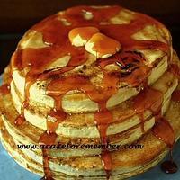 Groom's cake in the shape of pancakes
