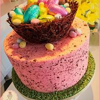 Speckled Nest Cake