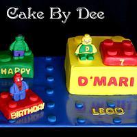 Boy's Lego Birthday Cake