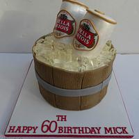 Stella Beer Can Cake