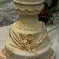 Fashion Themed Wedding Cake