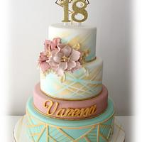Vanessa's 18th birthday cake