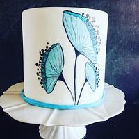 Blue Flower Cake
