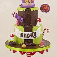 Willy Wonka/Charlie and the Chocolate Factory Cake