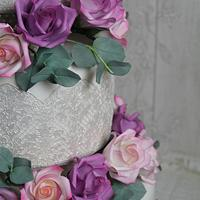 Wedding cake in pastel shades