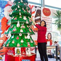 Giant Christmas tree cake