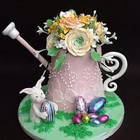 Easter garden by lorraine mcgarry