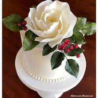 ~ Elegant Rose Cake ~