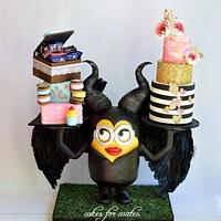 Maleficent-Minion cake
