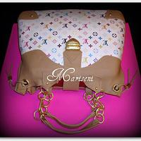 Louis Vuitton Inspired Bag Cake