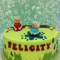 Peppa Pig Rainey Day Cake