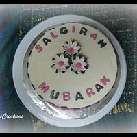 Daisy Red Velvet Cake by FiasCreations