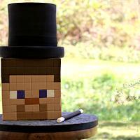 Magician Steve ~ Minecraft Cake