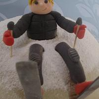 Snowball cake by That Cake Lady