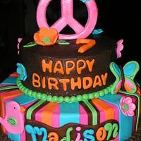 Hippie Chick themed birthday
