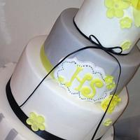 A Whimsical Gatsby Wedding Cake  by Lisa